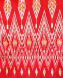 Pattern of Thai silk fabric Stock Photo