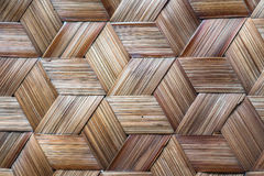 Pattern of Thai style bamboo handcraft Stock Photography