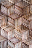 Pattern of Thai style bamboo handcraft Stock Photo