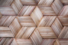 Pattern of Thai style bamboo handcraft Stock Image