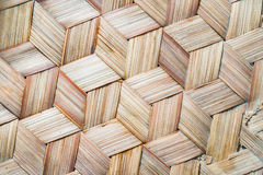Pattern of Thai style bamboo handcraft background Royalty Free Stock Images