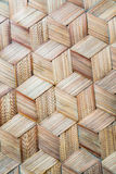 Pattern of Thai style bamboo handcraft background Royalty Free Stock Photography