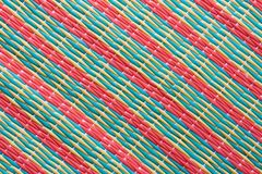 Pattern of Thai style mat woven Royalty Free Stock Images