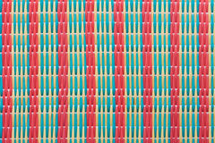 Pattern of Thai style mat woven. From plastic image Royalty Free Stock Photography