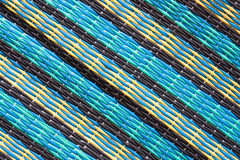 Pattern of Thai style mat woven from plastic Royalty Free Stock Photography