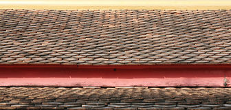 Pattern of Thai Temple roof. Pattern of Temple roof tile in thai style Royalty Free Stock Photos