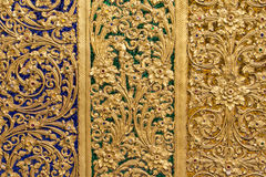 Pattern of thai temple wall Royalty Free Stock Photo