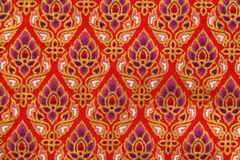 Pattern of Thailand native cloths. Close up stock photo
