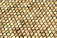 Pattern of thailand wooden roof. Old roof Royalty Free Stock Photos