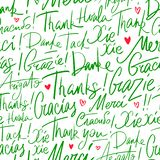 Pattern of Thank you in different languages royalty free illustration