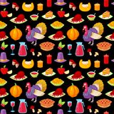 Pattern for thanksgiving day. Seamless pattern with colorful cartoon object for thanksgiving day.Vector illustration vector illustration
