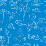 Pattern of the theme of beach holiday Royalty Free Stock Images