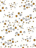 Pattern on a theme of a halloween with small pumpkins scattered in a disagreement. Seamless pattern of pumpkins for the holiday of Halloween from simple shapes Royalty Free Stock Photography
