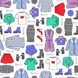 Pattern on the theme of ladies fashion Royalty Free Stock Photos