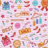 Pattern on  theme shopping Royalty Free Stock Image