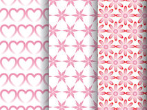 Pattern in three different style Stock Image