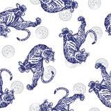 Pattern of tiger Stock Photos