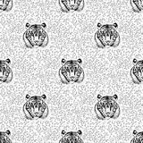Pattern of tiger. Vector eps 10 Royalty Free Stock Image