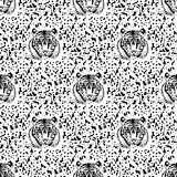 Pattern of tiger. Vector eps 10 Royalty Free Stock Photo