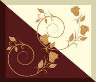 The pattern on the tile - Chocolate and vanilla Royalty Free Stock Images