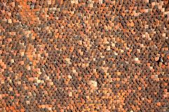 Pattern of tile roof Royalty Free Stock Photo