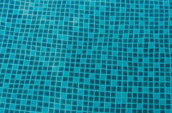 Pattern of tile for swimming pool. Under water Stock Photo