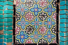 Pattern on the tile of the wall of a persian building in Iran Royalty Free Stock Photography