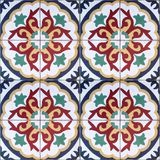 Ethnic Decorative seamless pattern of colorful tiles with ornaments Stock Image