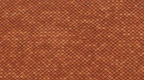 The pattern of tiles lining randomly in the red color. The roof of the oldest university in Thailand, Chualongkorn university Royalty Free Stock Photos