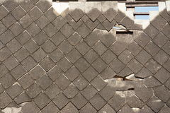 Pattern of tiles on the old roof Royalty Free Stock Photography