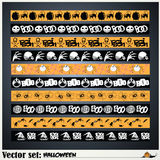 Pattern to prepare for the holiday Halloween Royalty Free Stock Image