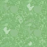 Pattern of tomato branch in a garden. Green and white. Royalty Free Stock Photography