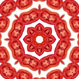 Pattern of Tomato slices Royalty Free Stock Image