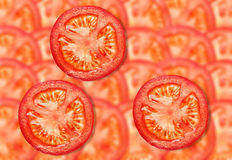 Pattern from tomatoes Royalty Free Stock Photo