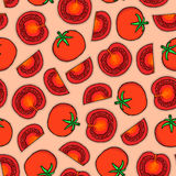 Pattern of tomatoes Stock Image