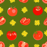 Pattern with tomatoes. Royalty Free Stock Photo