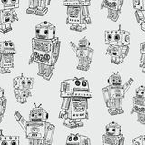 Pattern of toy robots Royalty Free Stock Images