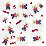 Pattern of a toy teddy bear Stock Image