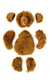 Pattern of toy teddy bear on white Stock Photography