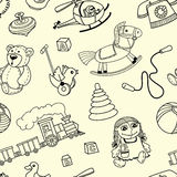 Pattern with toys for children Stock Photography