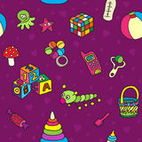 Pattern with toys Royalty Free Stock Photo