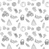 Pattern with toys Stock Photos