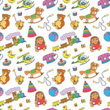 Pattern with toys Stock Photography