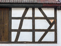Pattern of traditional half-timbered house wall Royalty Free Stock Photo