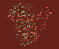 Pattern in traditional Russian style. Vintage pattern in traditional Russian style on a red background Royalty Free Stock Image
