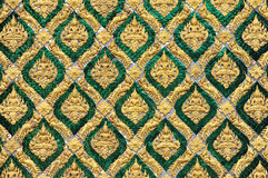 Pattern of traditional Thai art. Decorated on mirror tile in Royal palace, Bangkok, Thailand Royalty Free Stock Photography