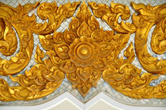 Pattern in traditional Thai style. In Arngthong,Thailand Royalty Free Stock Images