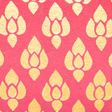 Pattern in traditional Thai style art on wall of the temple Royalty Free Stock Photography