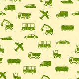 Pattern with transport Royalty Free Stock Images