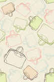 Pattern travel bags Royalty Free Stock Photo